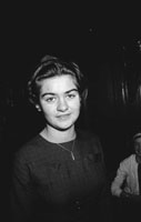 28th November 1962; A woman poses for the camera at the Red Cross Social which took place at the Grand Hotel.