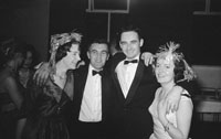 29th November 1962; Brian Sheehy (second from right) enjoying the night at the Banker's Dance which took place at the Manhattan Hotel.