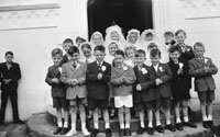 April 1962; A group photo taken on Confirmation Day in Kilflynn.