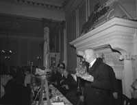 30th December 1962; Dr Eamonn O'Sullivan speaking at the Annual GAA Dinner in the Great Southern Hotel, Killarney.