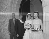 September 1962; A photo taken at the Healy/Kelly wedding which took place in Cloghers Church.