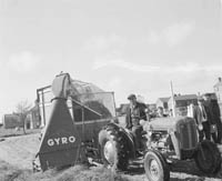 Farmer With Silage Maker