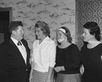 5th May 1964; Arthur O'Leary and friends at The Kerry Rose Of Tralee Contest at Ballybunion Central Ballroom.