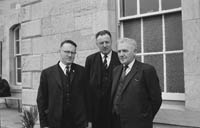 May 1964; Mr Patrick Hannigan, a native of Donegal, who has been appointed CIE District Manager of Kerry being welcomed to his new position.