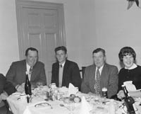 15th May 1964; A photo taken of some of the guests at the Bord Iascaigh Mhara Dinner for the 'Ros Airgead' Skipper Christy O'Shea.