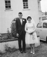 June 1964; A photo taken of a wedding couple on their Wedding Day.