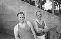 All-Ireland Handball Champions Jimmy O'Brien and Paddy Downey