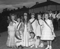 10th-12th August 1964; A photo of the Queen of Puck selection at Puck Fair in Killorglin.