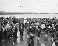 A Pipe Band at Dingle Regatta