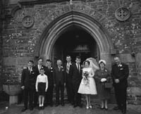 29th August 1964; A photo taken at Eileen Mulcahy's Wedding in Brosna.