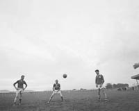September 1964; A photo of the Senior Kerry Football Team at a training session.