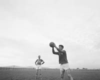 September 1964; A photo of the Mick O'Dwyer and Brian Sheehy at a training session.