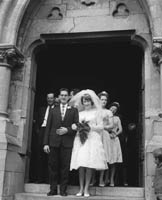 19th September 1964; A photo taken at the wedding of Michael O'Sullivan and Ann Devane at St Mary's Church in Dingle.