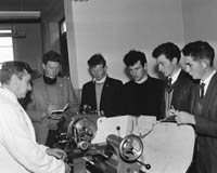 October 1964; The Engineering Class at Causeway Technical School. Kerry's First Senior Technical Course provided Agricultural and Industrial students with an education in a natural environment. Subjects were: Rural Science, Construction, Engineering, Welding, Surveying, Land History, Biology and Calculations. Classes were on Mondays throughout October and November.