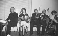 16th January 1964; A group of musicians perform at the Lixnaw Social in the Meadowlands Hotel, Tralee.