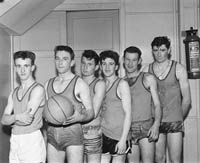 22nd November 1964; A basketball team that competed in the Brass Rail Blitz in the CYMS, Tralee.
