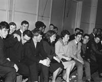 22nd November 1964; The crowd of spectators in the CYMS Tralee, for the Brass Rail Basketball Blitz.