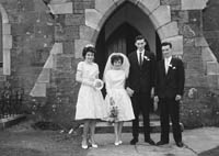 February 1964; A photo taken at a wedding in Ballyferriter.
