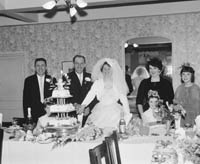 25th November 1964; A photo taken at the wedding reception of Robert Gleasure, Ballyroe, Tralee, to Annie May Donnegan, Causeway. Both Robert and Annie May were well known members of the North Kerry Farming Community.