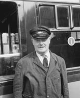 A CIE Train Driver in Casement Station in Tralee