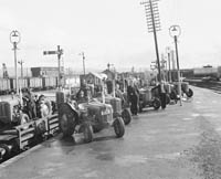 Tractors for Horan's Garage in the CIE Depot in Tralee