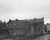 March 1964; A photo of the Abbey in Tralee before it was demolished.