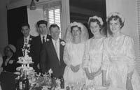 April 1964; A photo taken at a wedding reception in the Meadowland's Hotel, Tralee.