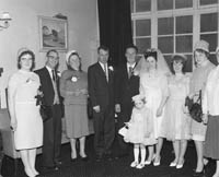 April 1964; A photo taken at a wedding reception in the International Hotel, Killarney.