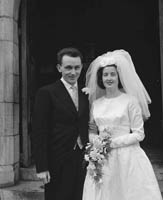 April 1964; A photo taken at a wedding in the Cathedral in Killarney.