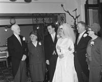 April 1964; A photo taken at a wedding reception at the International Hotel in Killarney.