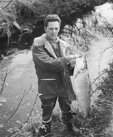 Junior Doyle with a Salmon