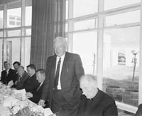 18th May 1966; A photo taken at a banquet for 80 guests given by the directors at the Central Hotel prior to the opening of the Greyhound Track in Ballybunion.