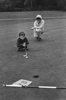 December 1969; Golfing prodigy Bridget Gleeson takes a putt at the Killarney Golf and Fishing Club.