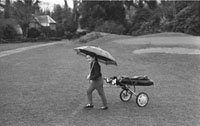 December 1969; Golfing prodigy Bridget Gleeson at the Killarney Golf and Fishing Club.