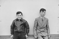 1955; Two Schoolboys Posing For The Camera At A Kerry School.