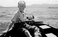 1953; A Man On A Boat Trip Off Valentia Island.