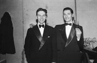 16th February 1954; Two Men Posing At The 7th Annual Traly Footwear Dress Dance And Buffet At Ashe Memorial Hall Tralee. Music Supplied By The Alan Beale Orchestra.