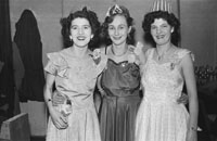 16th February 1954; A Group Of Women Posing At The 7th Annual Traly Footwear Dress Dance And Buffet At Ashe Memorial Hall Tralee. Music Supplied By The Alan Beale Orchestra.