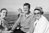 1953; Television Star Eamonn Andrews and his wife Grainne (right) Enjoying Themselves On A Boat Trip Off Valentia Island.
