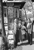 1953; A group on a tour of Paris.