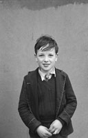 1955; A School Child Posing For The Camera At A Kerry School.