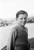 1955; A Schoolboy Posing For The Camera At A Kerry School.