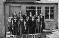 1955; A Group Of Schoolgirls Posing For The Camera At A Kerry School.
