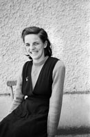 1955; A Schoolgirl Posing For The Camera At A Kerry School.