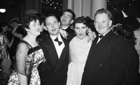 December 1955; Joe Treacy and friends at the Tralee Rugby Club Dance In Killarney.