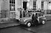 December 1955; A Photo Of A Car Presentation To A Gentleman Outside The CYMS In Tralee.