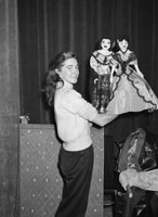 December 1955; A Member of the Opera Puppet Show in the CYMS, Denny Street, Tralee.