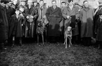 26th-28th December 1955; A group posing for the camera at the Kingdom Cup coursing meeting in Tralee.