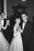 February 1954; People enjoying themselves at the T.C.L.S. dance at the Killarney Lake Hotel.