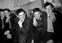28th October 1962; A group of young men enjoying the night at a dance which took place in Ballymacelligott.